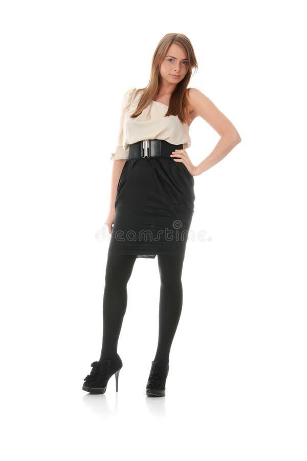 elegantt kvinnabarn för klänning arkivbilder