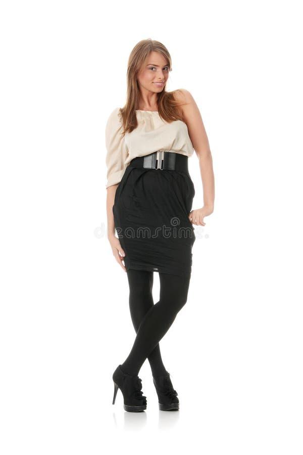 elegantt kvinnabarn för klänning arkivbild