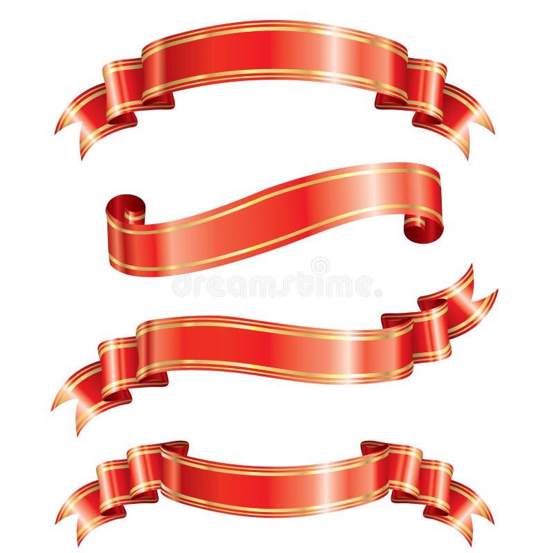 Eleganz-Farbband-Fahne stock abbildung