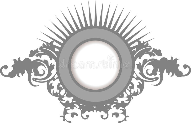 Eleganz-silbernes Grau-Blumenkurven-Feld vektor abbildung