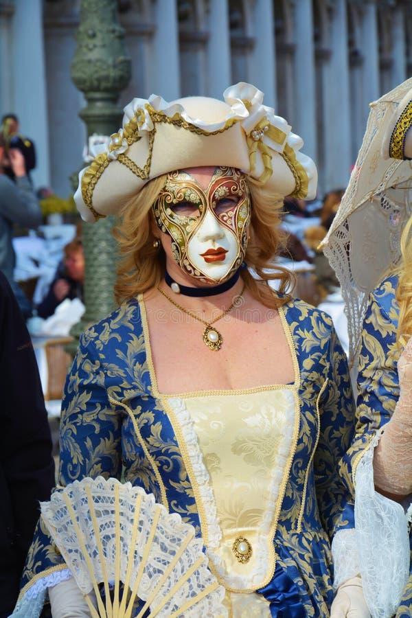 Eleganz und venetianische Maske, Venedig, Italien, Europa stockfotos