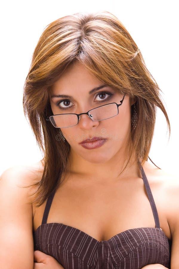 Eleganza latina con i vetri 2 immagine stock