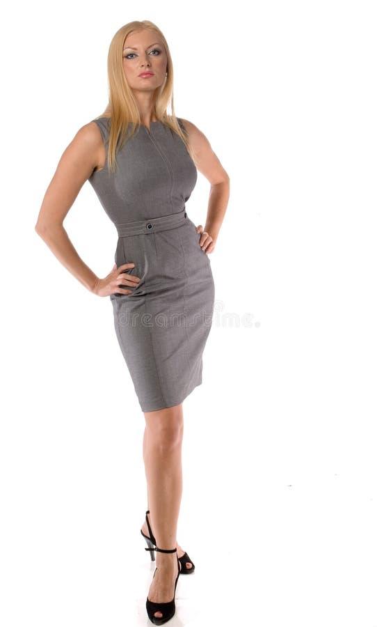 Eleganzgeschäftsfrau getrennt lizenzfreie stockfotos