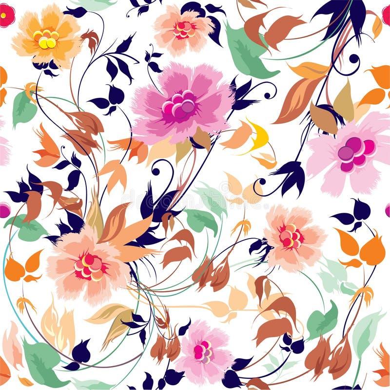 Eleganznahtloses Blumenmuster stock abbildung