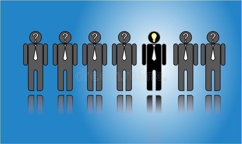 Elegir al candidato mejor o adecuado de la lista de candidatos ilustración del vector