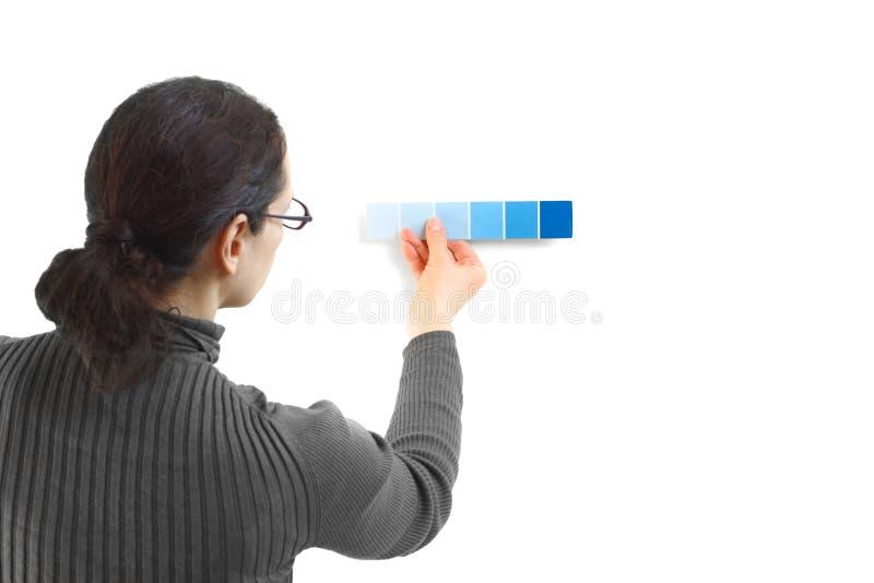 Elegir colores foto de archivo libre de regalías