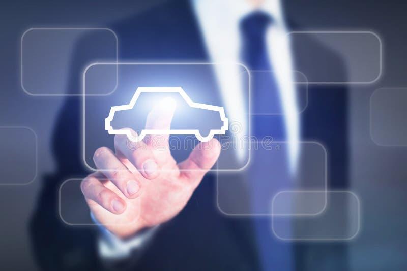 Elegir concepto en línea del coche fotos de archivo