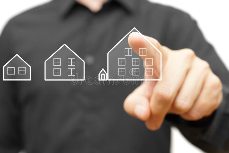 Elegir la casa perfecta para sus necesidades imagen de archivo libre de regalías