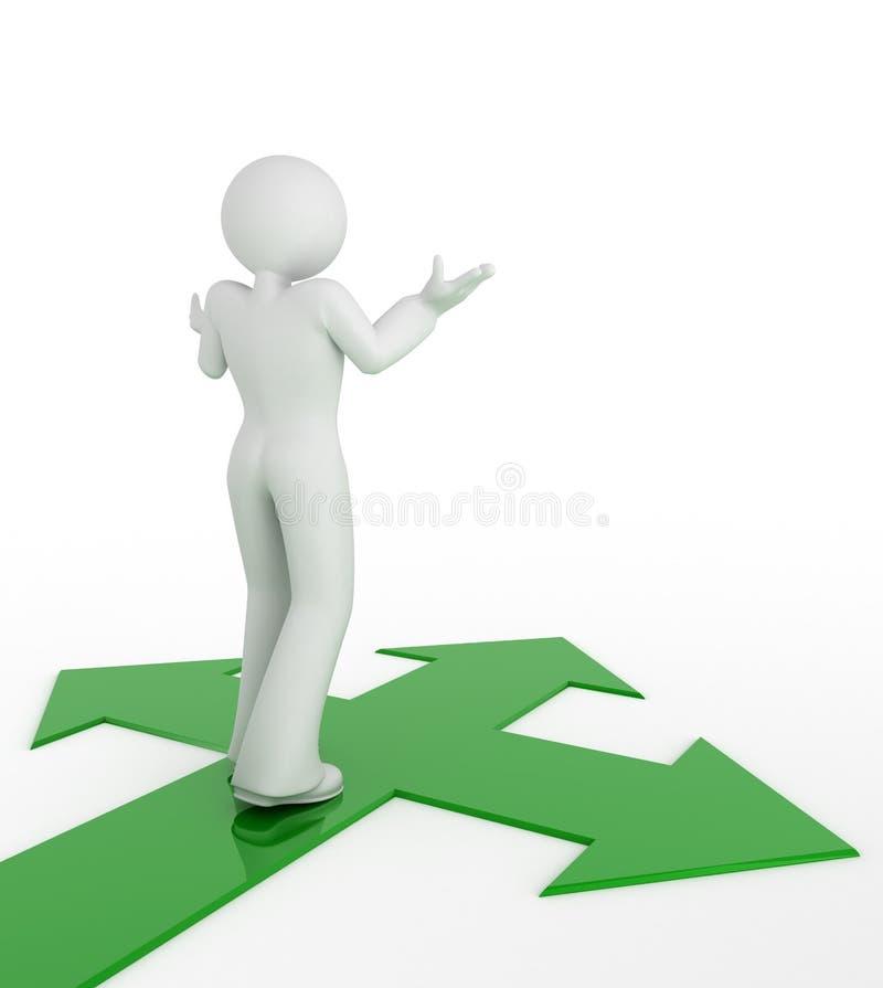 Elegir la manera. ilustración del vector