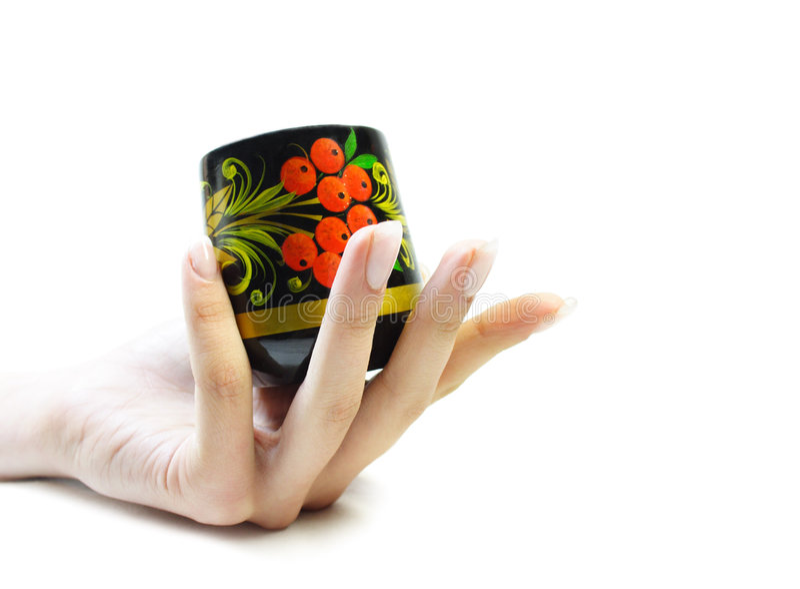 Elehant Hand With Capacity Royalty Free Stock Photos