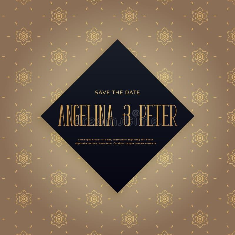 Elehant premium wedding invitation background design vector illustration