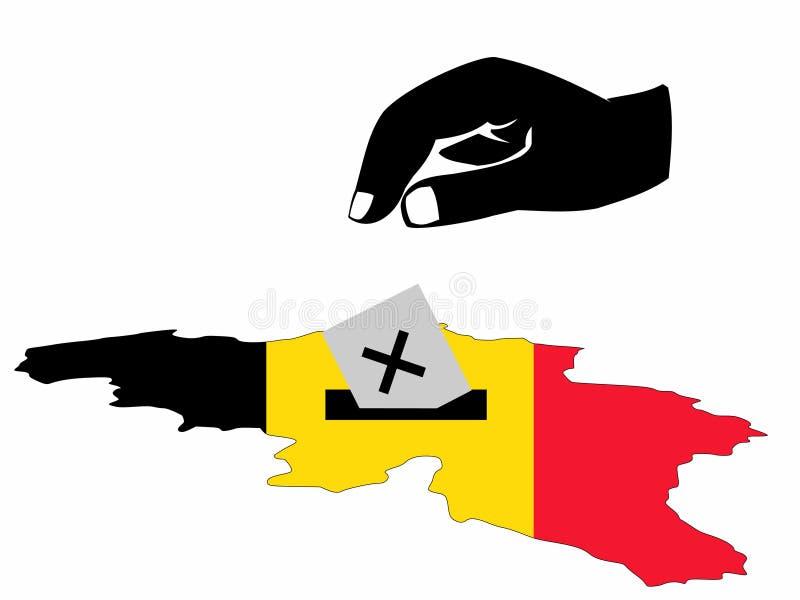 Eleição belga ilustração royalty free