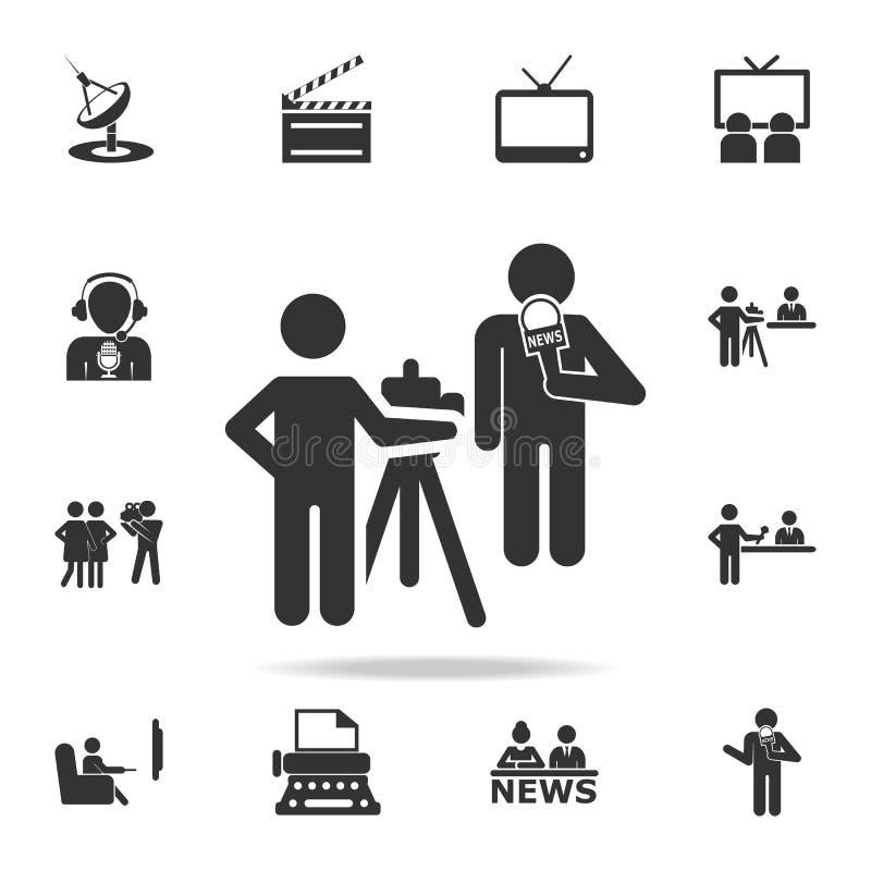 A eleição debate o ícone Ícones detalhados do grupo do ícone do elemento dos meios Projeto gráfico da qualidade superior Um dos í ilustração royalty free