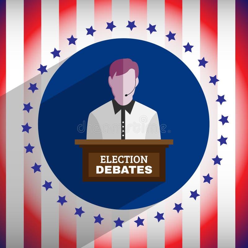 A eleição debate o inseto ilustração royalty free