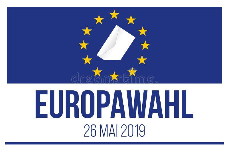 Eleição do Parlamento 2019 Europeu ilustração royalty free