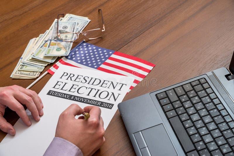 Eleição do presidente fotografia de stock