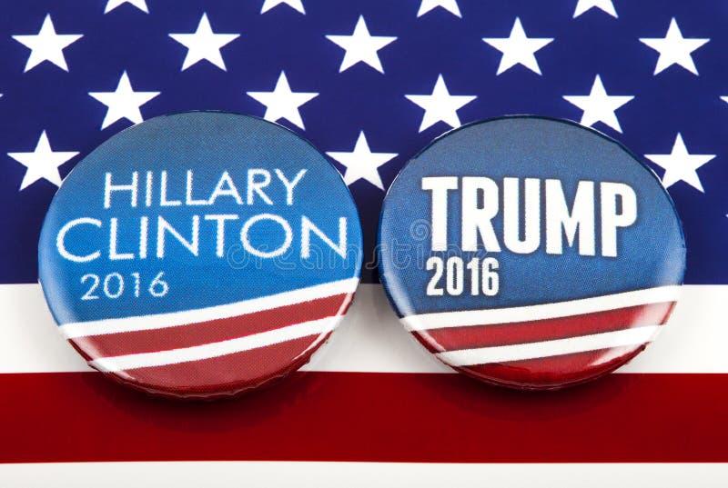 Eleição dos E.U. do trunfo de Clinton V fotografia de stock