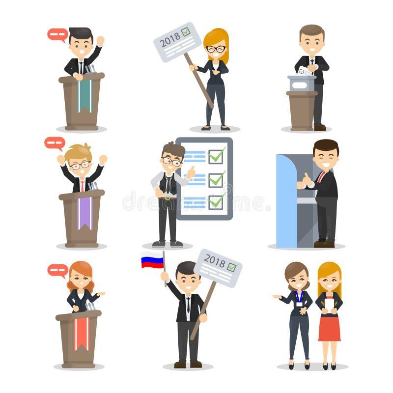 Eleição e debates ilustração do vetor