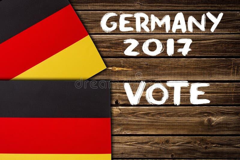 Eleição em Alemanha, 2017 Conceito da política foto de stock royalty free