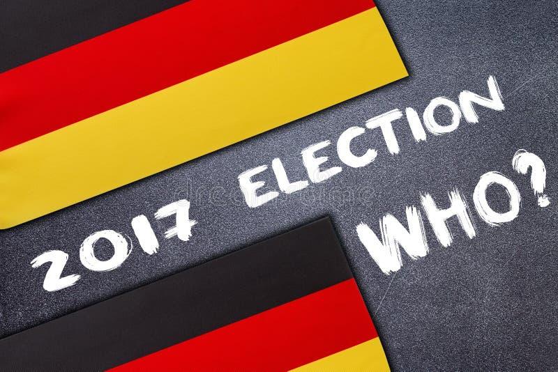 Eleição em Alemanha na placa de giz fotografia de stock