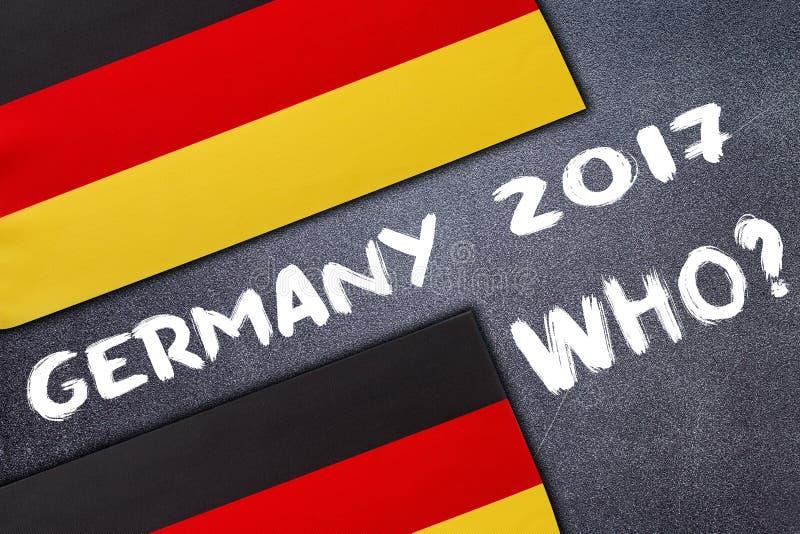 Eleição em Alemanha na placa de giz foto de stock royalty free