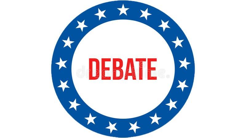 Eleição em um fundo dos EUA, do debate rendição 3D Bandeira de Estados Unidos da América que acena no vento Votando, democracia d ilustração stock