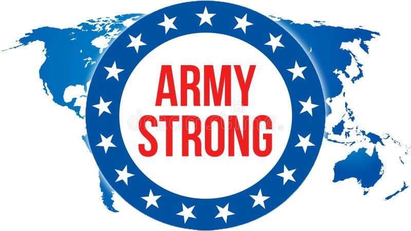 Eleição FORTE em um fundo dos EUA, do EXÉRCITO rendição 3D Bandeira de Estados Unidos da América que acena no vento Votação, libe ilustração do vetor