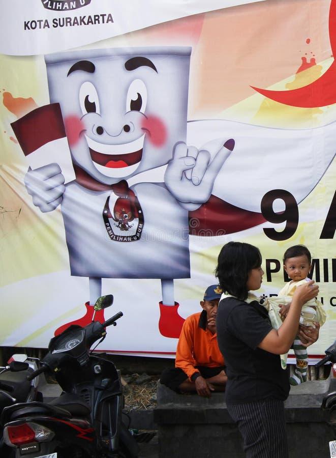 Eleição parlamentar indonésia imagens de stock royalty free