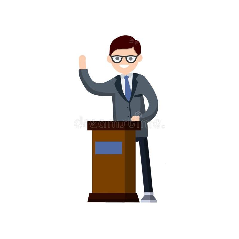 Eleição presidencial Ilustração lisa dos desenhos animados ilustração stock