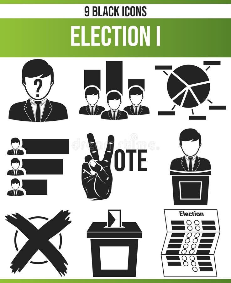 Eleição preta I do grupo do ícone ilustração royalty free