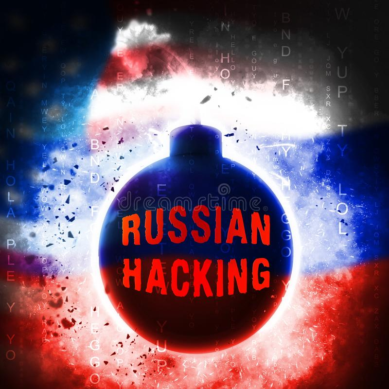 A eleição que corta a espionagem do russo ataca a ilustração 3d ilustração do vetor