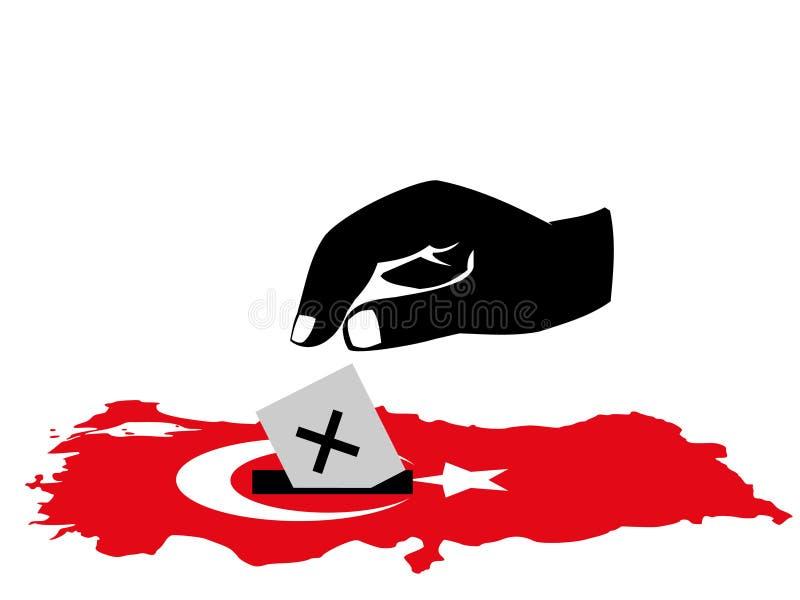 Eleição turca de votação ilustração stock