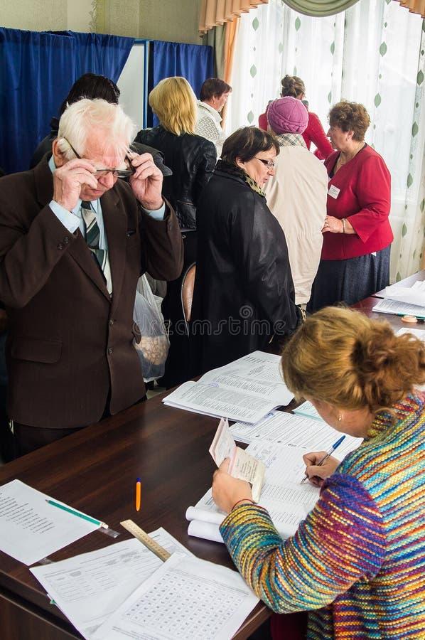 Eleições à duma de estado Federação Russa do 18 de setembro de 2016 na região de Kaluga foto de stock royalty free