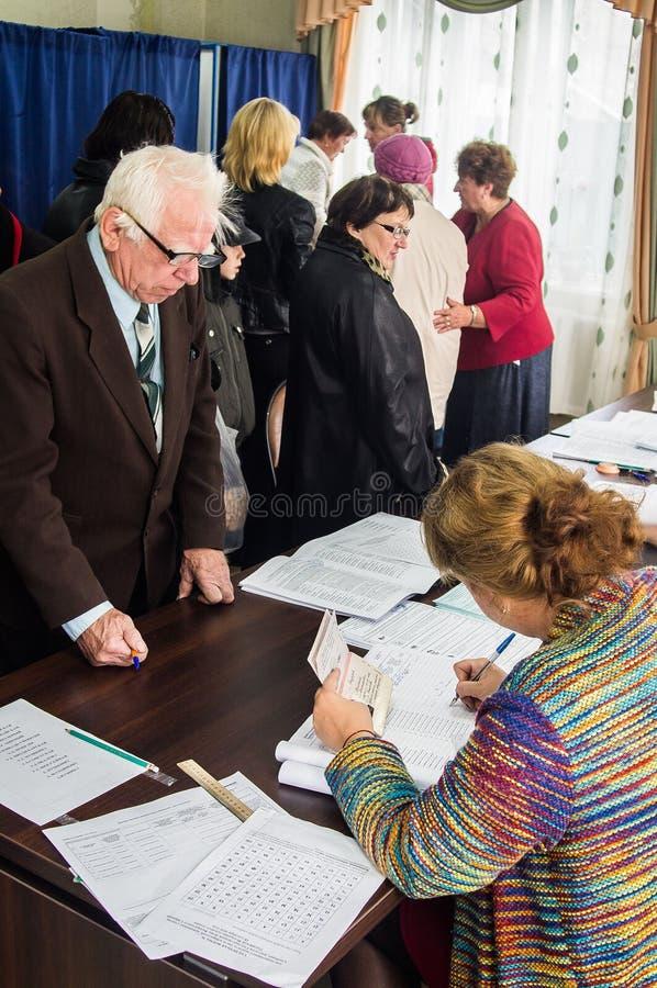 Eleições à duma de estado Federação Russa do 18 de setembro de 2016 na região de Kaluga imagem de stock