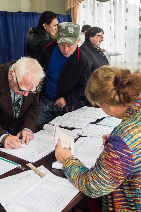 Eleições à duma de estado Federação Russa do 18 de setembro de 2016 na região de Kaluga fotografia de stock royalty free