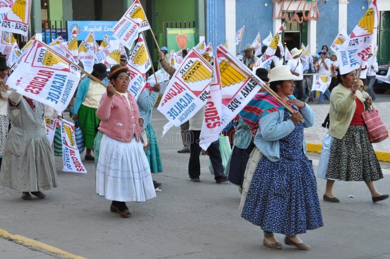 Eleições locais 2010 dos Peruvian fotografia de stock royalty free