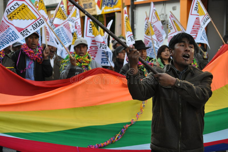 Eleições locais 2010 dos Peruvian fotos de stock royalty free