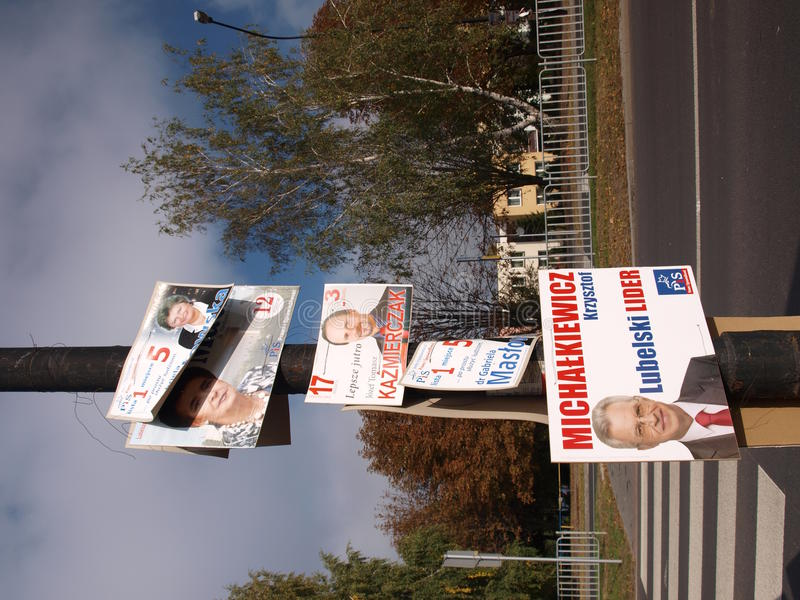 Eleições, Poland fotografia de stock