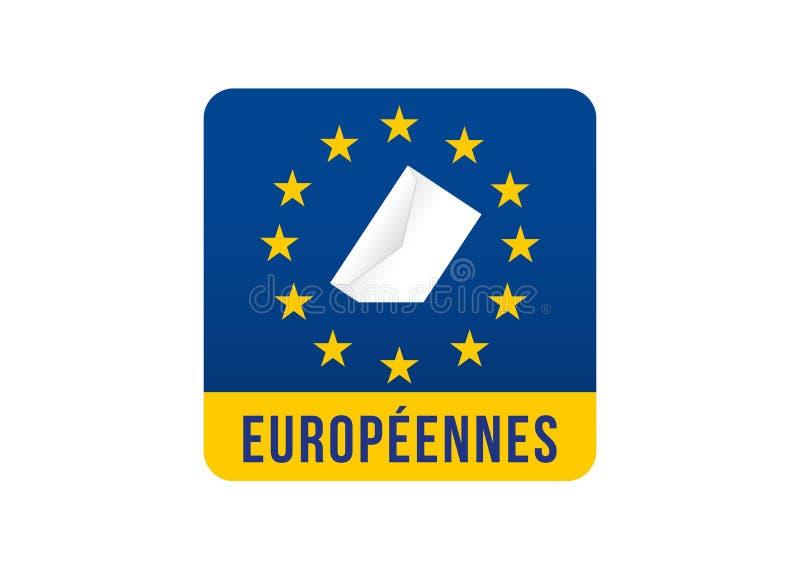 Elei??o do Parlamento 2019 Europeu ilustração stock