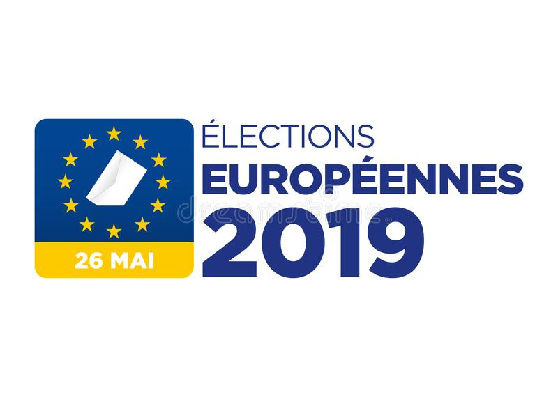 Elei??o do Parlamento 2019 Europeu ilustração royalty free