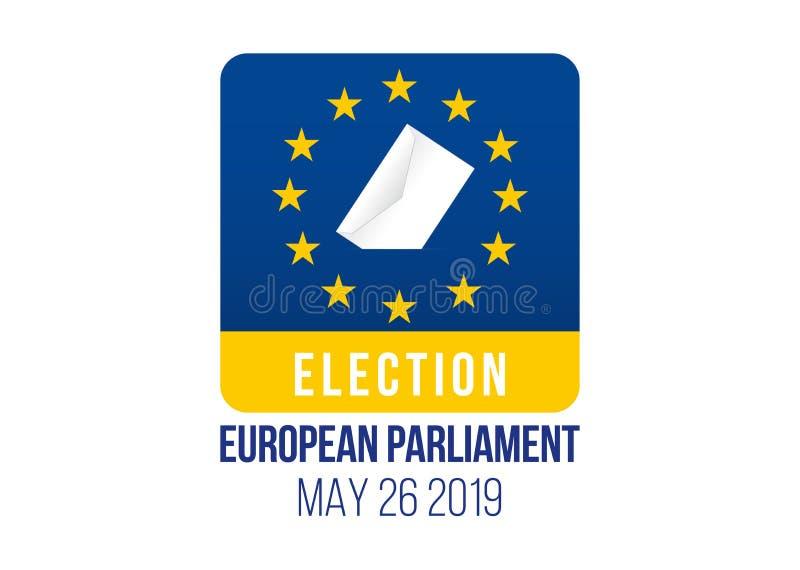 Elei??o do Parlamento 2019 Europeu ilustração do vetor
