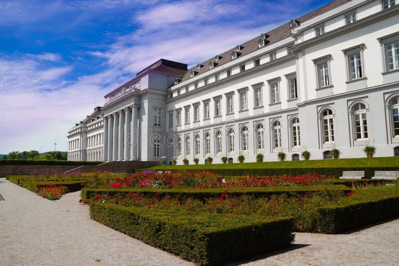Elektoralny pałac w Koblenz Niemcy obrazy royalty free