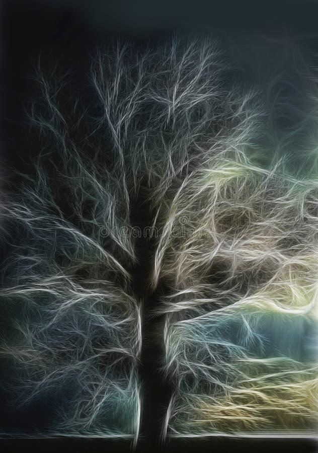 Elektra Żyje drzewa ilustracja wektor