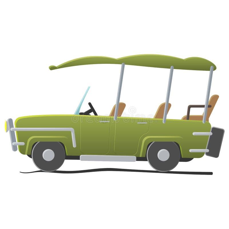 Elektra grać w golfa samochód royalty ilustracja