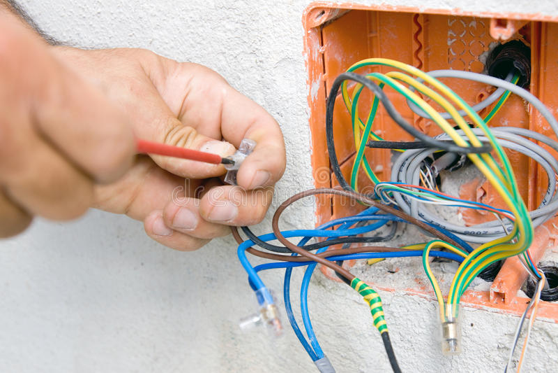 Elektricien stock foto