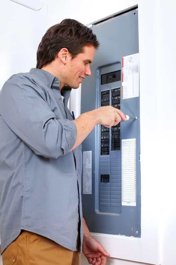 Elektricien stock foto's