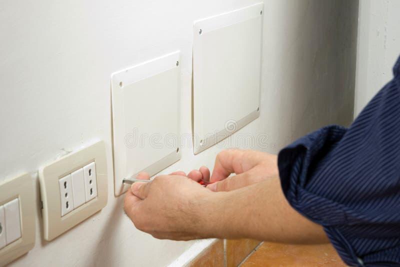 Elektricien royalty-vrije stock fotografie