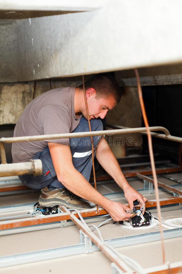 Elektricien Fixing Devices royalty-vrije stock foto