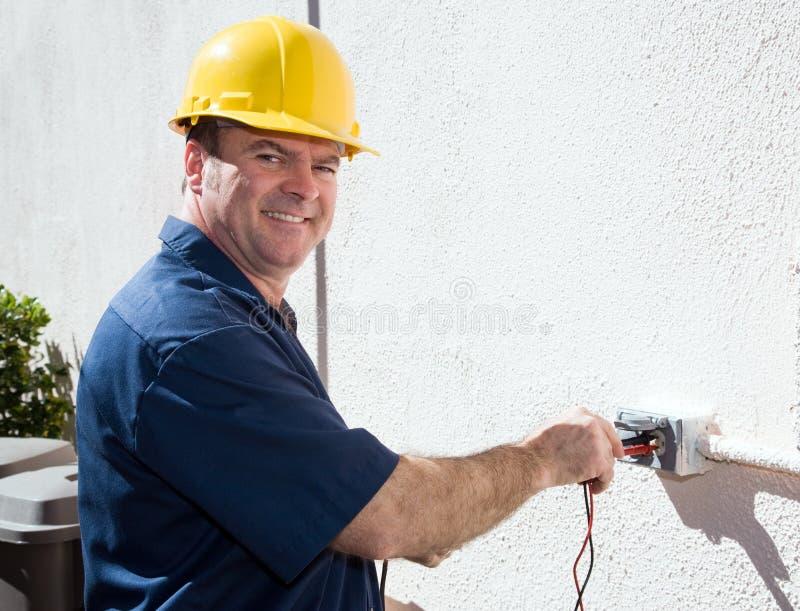 Elektricien op het Werk royalty-vrije stock foto's