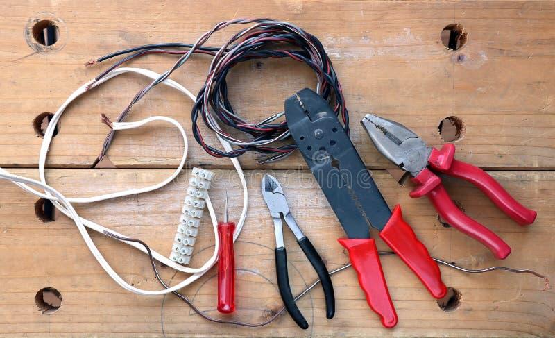 Elektricienhulpmiddelen stock fotografie